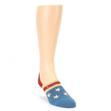 Image of Red Blue American Flag Men's Liner Socks (side-1-front-02)