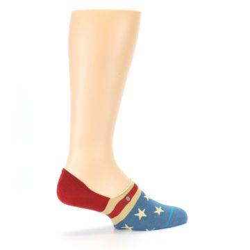 Image of Red Blue American Flag Men's Liner Socks (side-1-23)