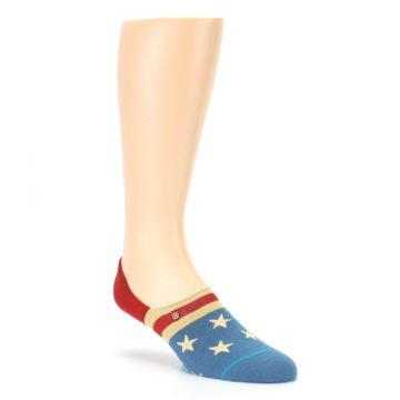 Image of Red Blue American Flag Men's Liner Socks (side-1-27)