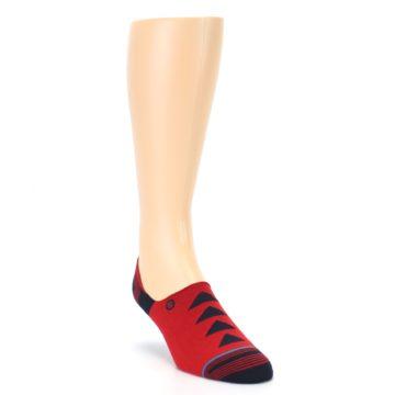 Image of Red Black Triangles Men's Liner Socks (side-1-front-02)