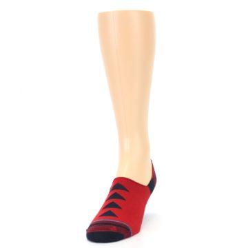 Image of Red Black Triangles Men's Liner Socks (side-2-front-06)