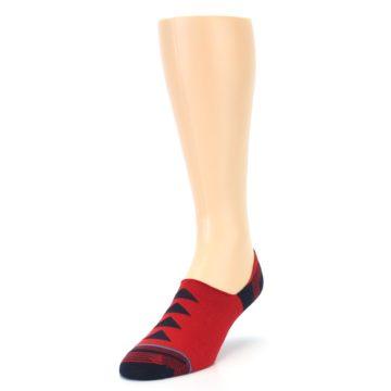 Image of Red Black Triangles Men's Liner Socks (side-2-front-07)