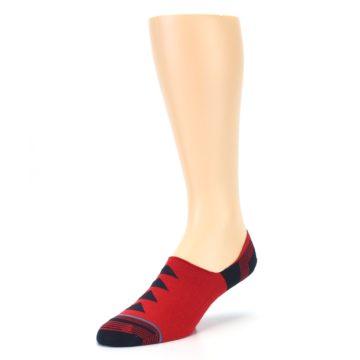 Image of Red Black Triangles Men's Liner Socks (side-2-front-08)