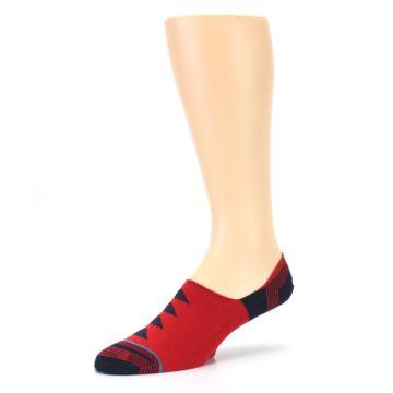 Image of Red Black Triangles Men's Liner Socks (side-2-09)