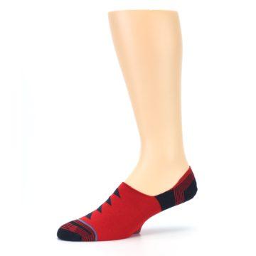 Image of Red Black Triangles Men's Liner Socks (side-2-10)