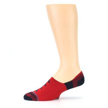 Image of Red Black Triangles Men's Liner Socks (side-2-11)