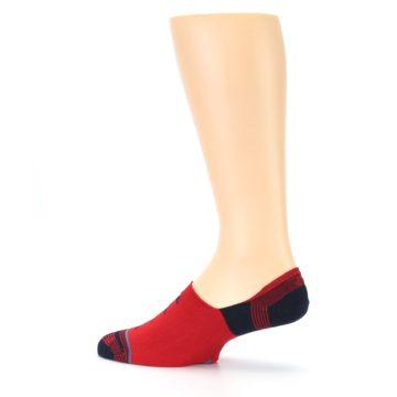Image of Red Black Triangles Men's Liner Socks (side-2-13)