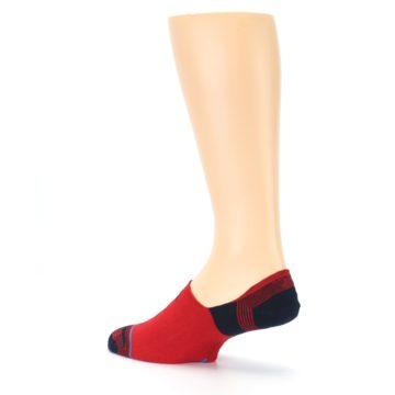 Image of Red Black Triangles Men's Liner Socks (side-2-back-14)