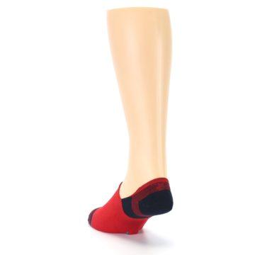 Image of Red Black Triangles Men's Liner Socks (side-2-back-16)