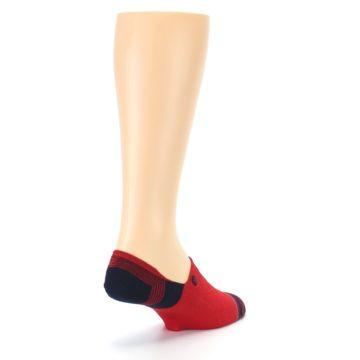 Image of Red Black Triangles Men's Liner Socks (side-1-back-21)