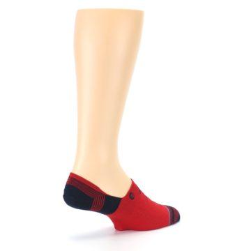 Image of Red Black Triangles Men's Liner Socks (side-1-back-22)