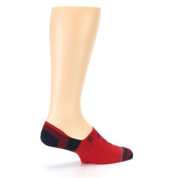 Image of Red Black Triangles Men's Liner Socks (side-1-23)