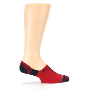 Image of Red Black Triangles Men's Liner Socks (side-1-24)
