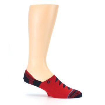 Image of Red Black Triangles Men's Liner Socks (side-1-25)