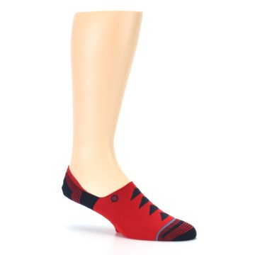 Image of Red Black Triangles Men's Liner Socks (side-1-26)