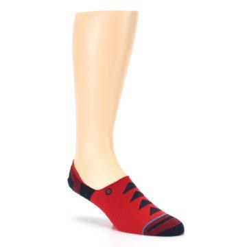 Image of Red Black Triangles Men's Liner Socks (side-1-27)