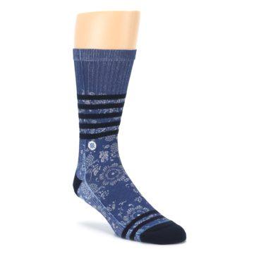 Blue Black Patterned Mens Casual Socks STANCE