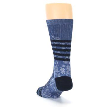 Image of Blue Black Patterned Men's Casual Socks (side-2-back-16)