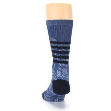 Image of Blue Black Patterned Men's Casual Socks (back-17)