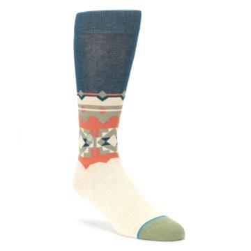 Khaki Green Diamond Pattern Mens Casual Socks STANCE