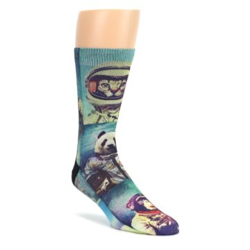 Animals-Space-Explorers-Mens-Casual-Socks-Good-Luck-Sock