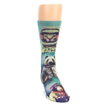 Image of Animals Space Explorers Men's Casual Socks (side-1-front-03)