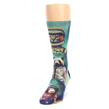 Image of Animals Space Explorers Men's Casual Socks (side-2-front-06)
