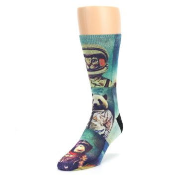 Image of Animals Space Explorers Men's Casual Socks (side-2-front-07)