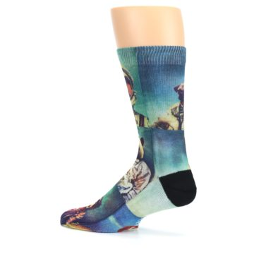 Image of Animals Space Explorers Men's Casual Socks (side-2-13)