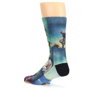 Image of Animals Space Explorers Men's Casual Socks (side-2-back-14)