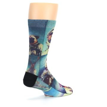 Image of Animals Space Explorers Men's Casual Socks (side-1-back-22)