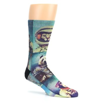 Image of Animals Space Explorers Men's Casual Socks (side-1-26)