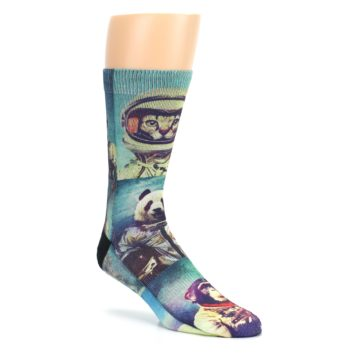 Image of Animals Space Explorers Men's Casual Socks (side-1-27)