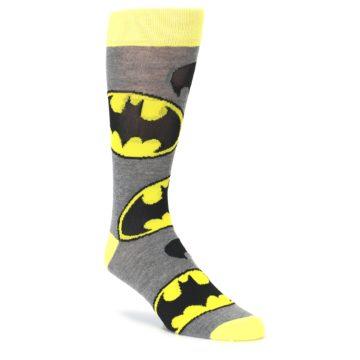 Grey Yellow Batman Logo Men's Casual Socks
