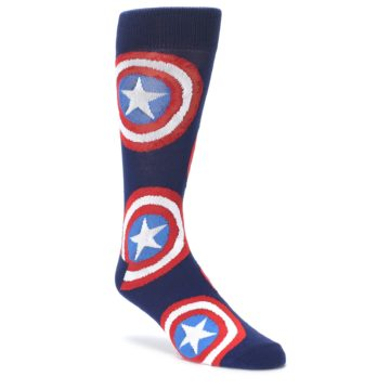 Blue Captian American Logo Men's Casual Socks