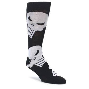 Black Gray Punisher Logo Men's Casual Socks