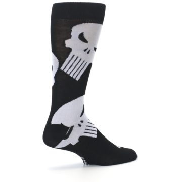 Image of Black Gray Punisher Logo Men's Casual Socks (side-1-23)