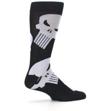 Image of Black Gray Punisher Logo Men's Casual Socks (side-1-24)