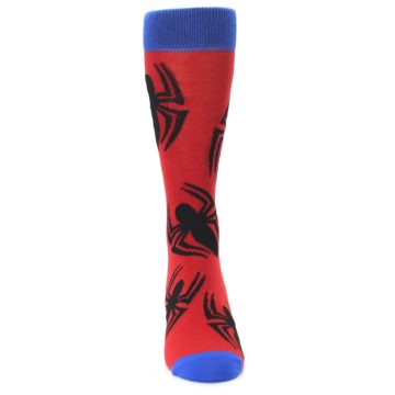 Image of Red Black Spiderman Logo Men's Casual Socks (front-04)