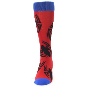 Image of Red Black Spiderman Logo Men's Casual Socks (front-05)