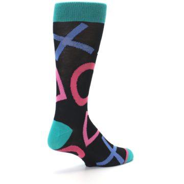 Image of Black Multi Playstation Logo Men's Casual Socks (side-1-back-22)