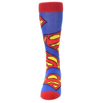 Image of Blue Red Superman Logo Men's Casual Socks (front-05)