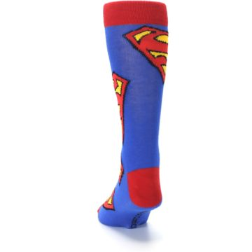 Image of Blue Red Superman Logo Men's Casual Socks (back-17)