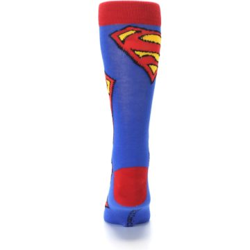 Image of Blue Red Superman Logo Men's Casual Socks (back-18)