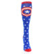 Image of Blue Red Captain American Women's Knee High Socks (front-04)