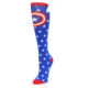 Image of Blue Red Captain American Women's Knee High Socks (side-2-front-08)