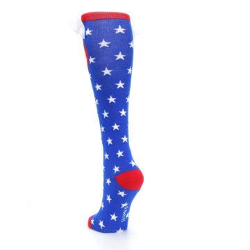 Image of Blue Red Captain American Women's Knee High Socks (side-2-back-16)