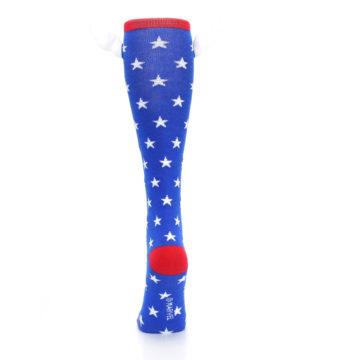 Image of Blue Red Captain American Women's Knee High Socks (back-18)