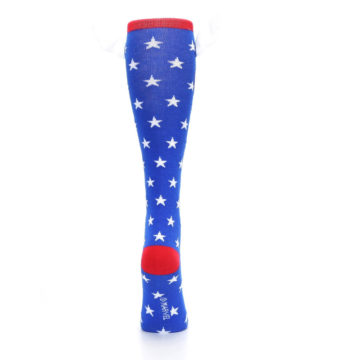 Image of Blue Red Captain American Women's Knee High Socks (back-19)