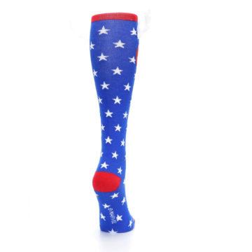 Image of Blue Red Captain American Women's Knee High Socks (side-1-back-20)